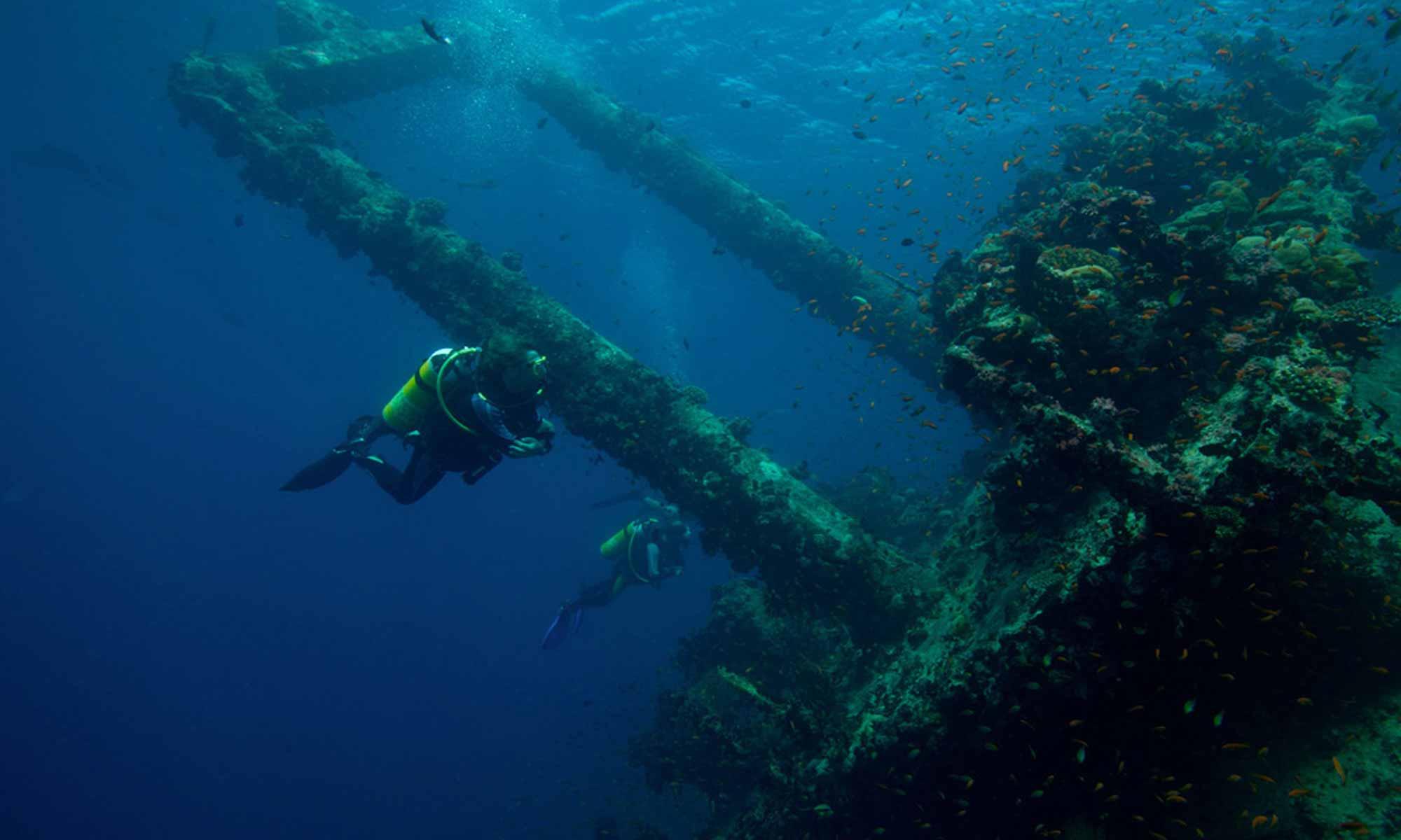 Slow Dive Indischer Ozean Malediven Pro Divers Kuredu Wrack