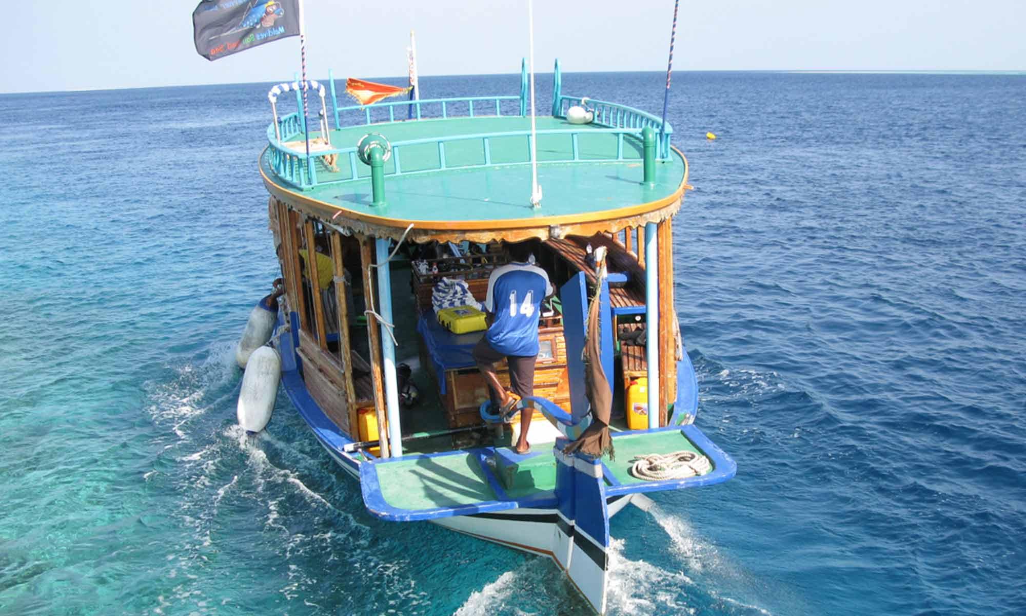 Slow Dive Indischer Ozean Malediven Werner Lau Bathala Boot