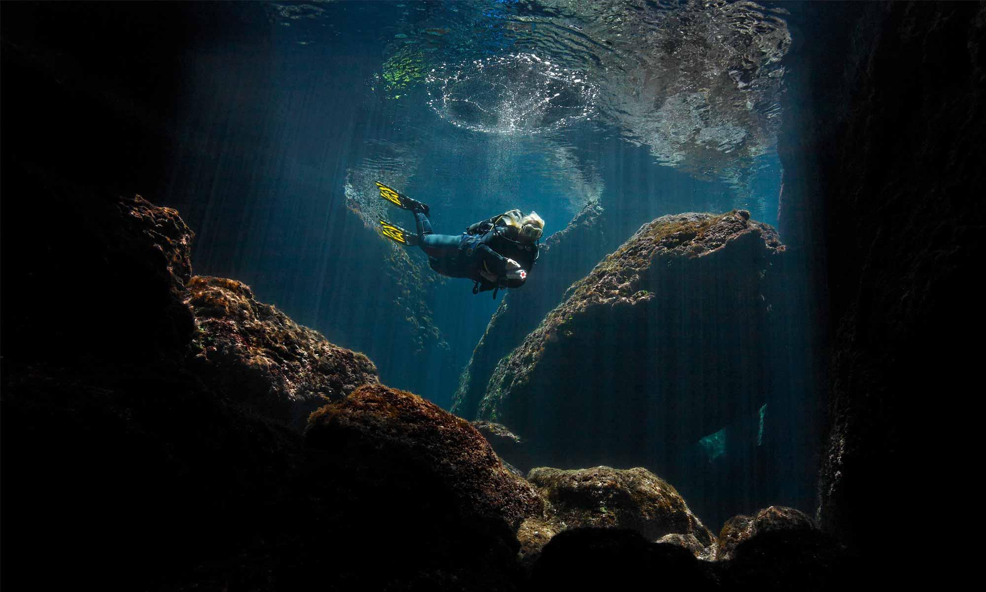 Slow Dive Angebote Griechenland Zakynthos Unterwasser Flintenlauf Eingang