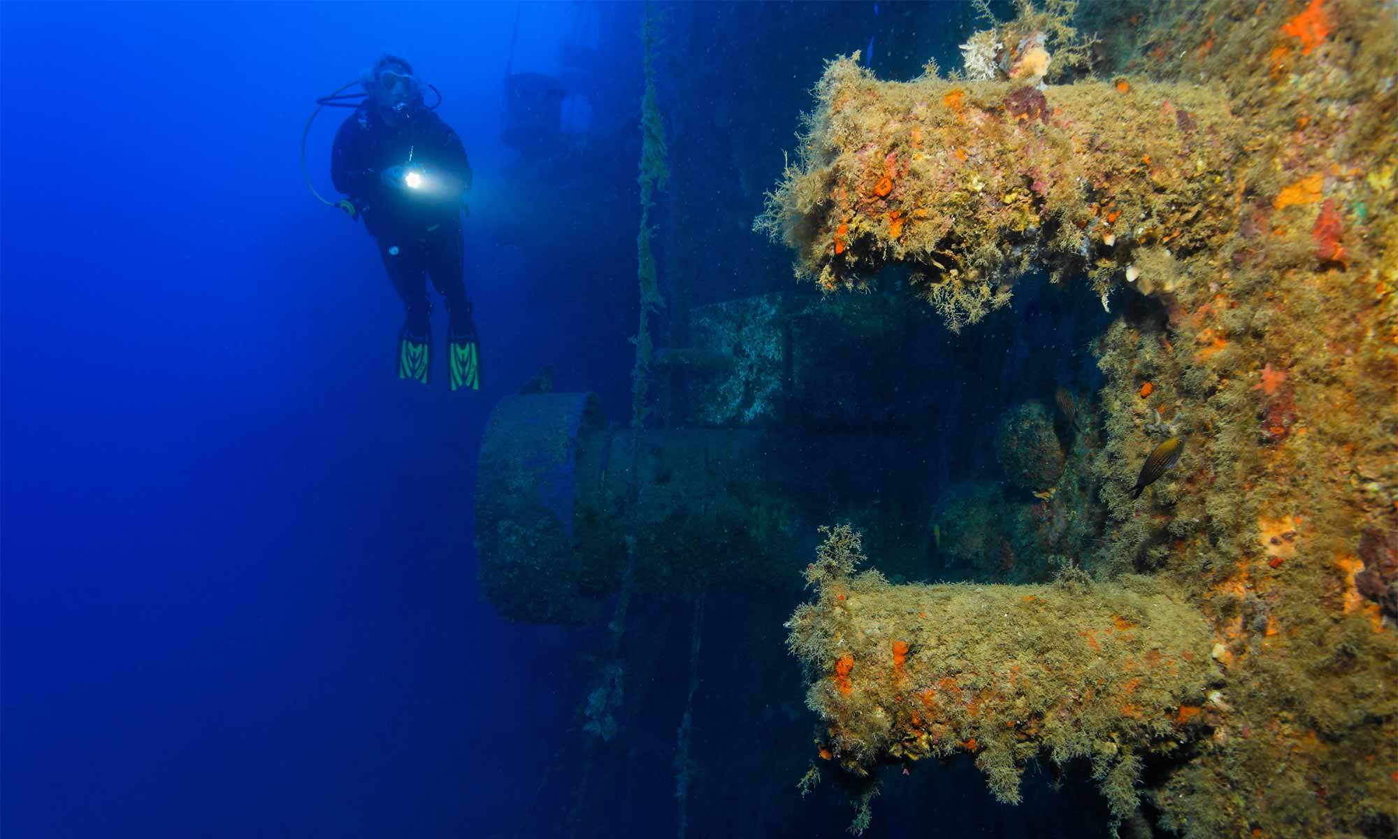 Slow Dive Angebote Griechenland Zakynthos Unterwasser Wrack Bugbauaufbauten